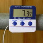 Termometer zum Ermitteln der Tagesgrade