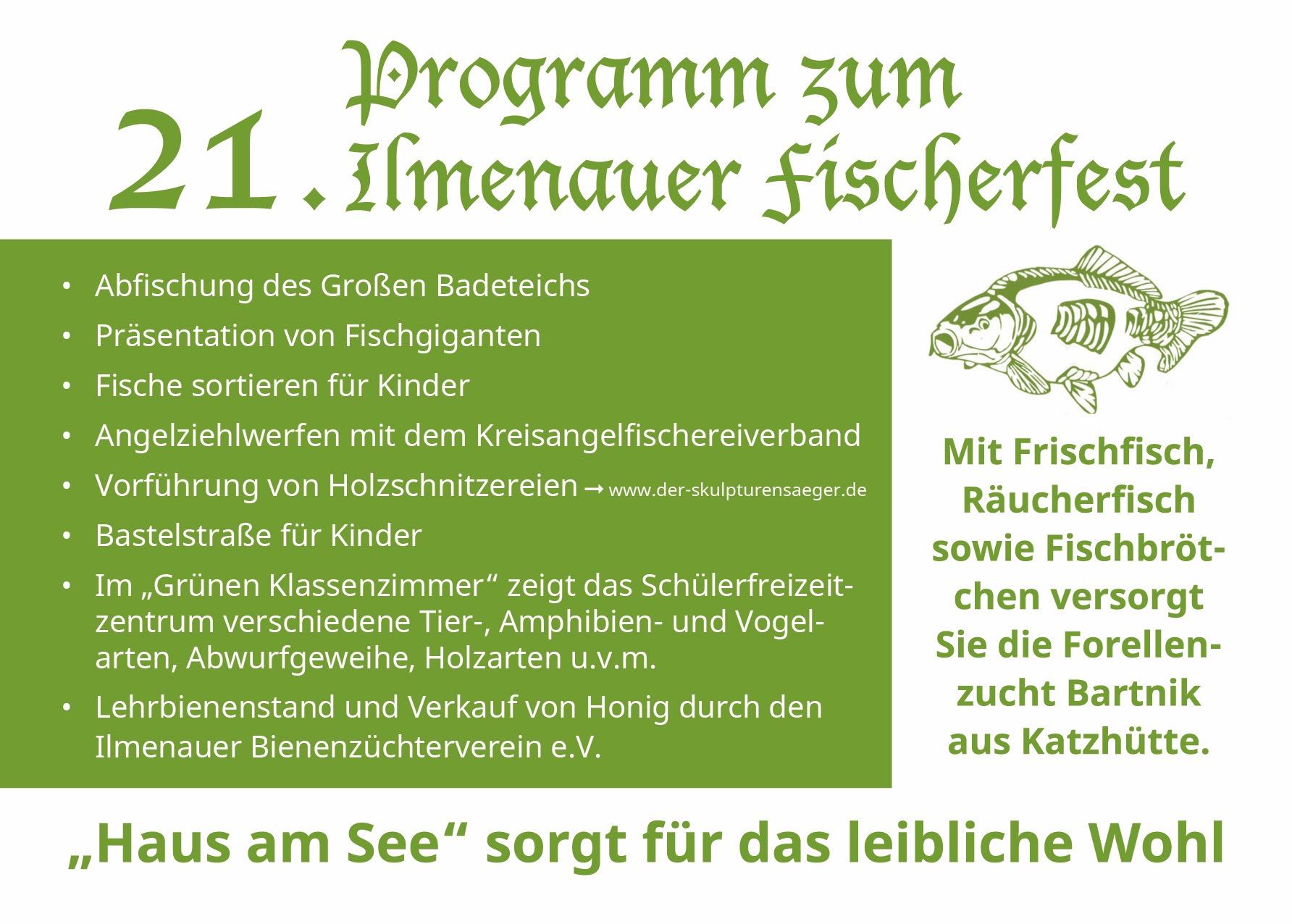 21. Ilmenauer Fischerfest Programm