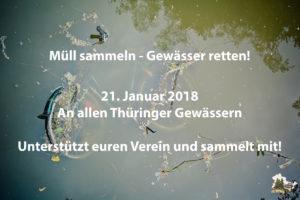 Müll sammeln - Gewässer retten 2018