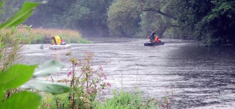Kontrollbefischung Flussabschnitt