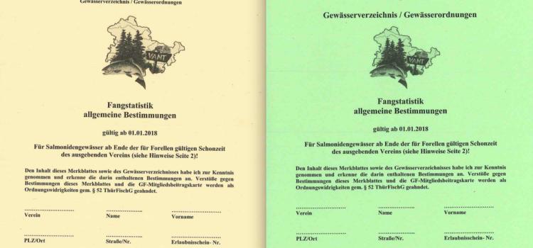 Zweigverein Gewässerfond – Gewässerverzeichnis 2018 kann bestellt werden!