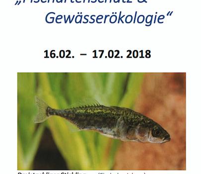 """15. Fachtagung """"Fischartenschutz und Gewässerökologie 2018″ – Programm"""