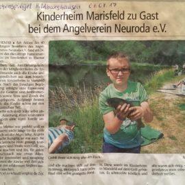 Kinderheim Marisfeld zu Gast bei dem Angelverein Neuroda e.V.