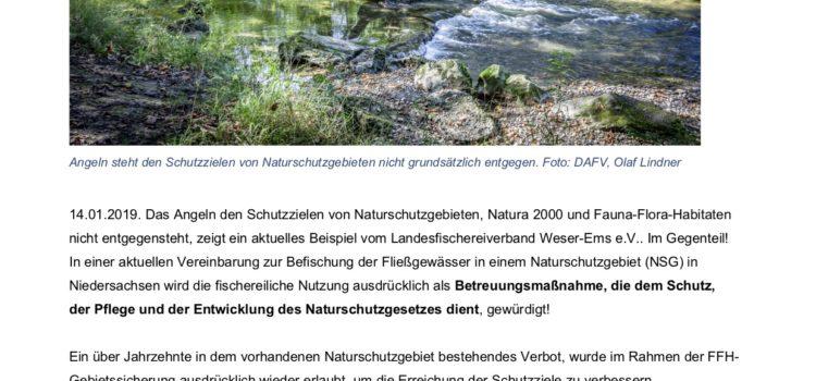 DAFV: Angeln hilft Naturschutzgebieten
