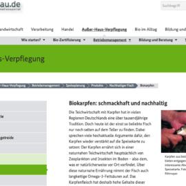 Biokarpfen: schmackhaft und nachhaltig