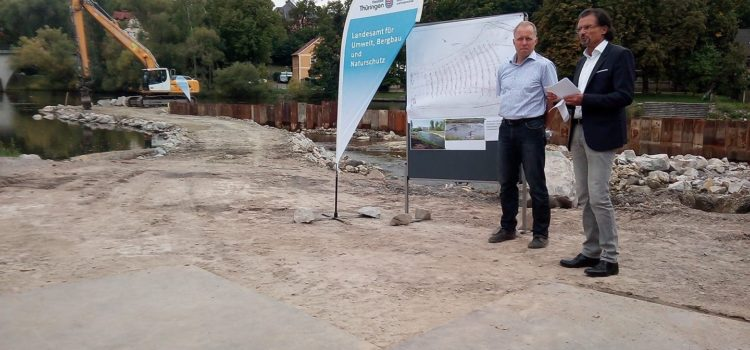 Sanierung Zeisswehr in Saalfeld